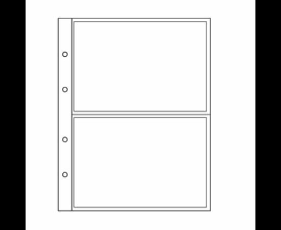 File de album NUMIS Bancnote, 2 buzunare, folii transparente