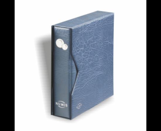 Album NUMIS pentru monede cu casetă de protecţie(albastru)