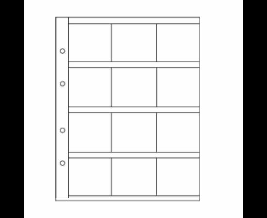 File de album OPTIMA (12 cartonaşe - 50x50 mm)