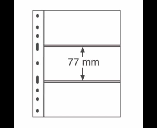 File de album OPTIMA(Bancnote, 3 buzunare)