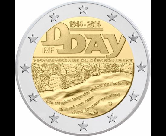 D-DAY – ZIUA-Z – DEBARCAREA DIN NORMANDIA, 2 EUR, UNIUNEA EUROPEANĂ, 2014 2 euro, D-Day, 2014 Franţa