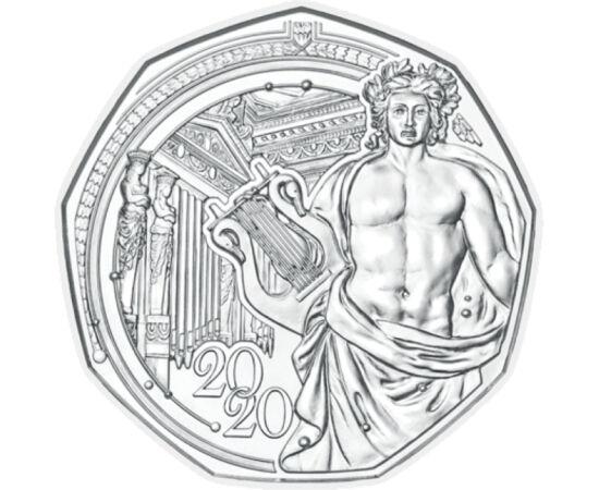 // 5 euro, argint de 925/1000, Austria, 2020 // - În fiecare an, Austria întâmpină Anul Nou cu o nouă monedă specială de 5 euro. Moneda Anului Nou este decorată cu imaginea sediului Filarmonicii din Viena, numit Musikverein, care anul acesta împlineşte 15