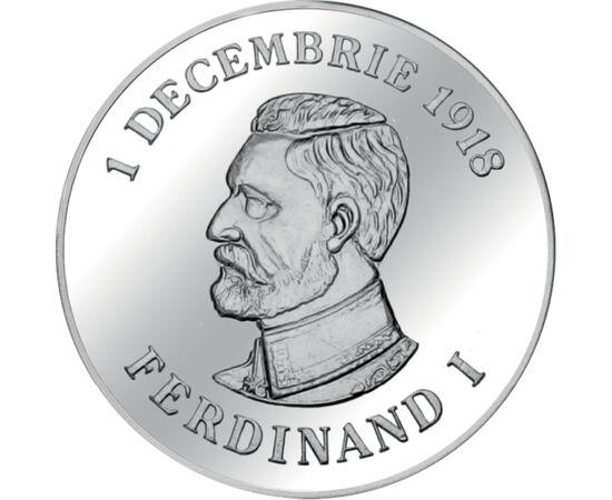 // medalie, România, 2018 // - Au trecut deja mai mult de 100 de ani de la Marea Unire. Medalia unică, emisă cu ocazia Centenarului, înfăţişează pe regele Ferdinand I, Întregitorul de ţară şi Arcul de Triumf, monumentul care este simbolul unităţii noastre
