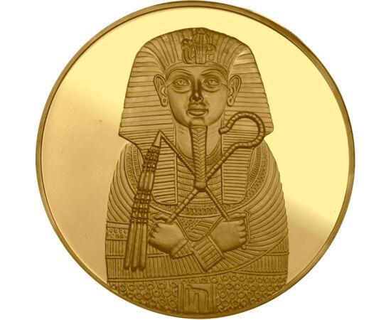 // medalii pictate, placate cu aur, Egipt, ND // - La descoperirea mormântului faraonului Tutankhamon, arheologii au găsit comori extraordinare din aur. Până în zilele noastre, aceasta este cea mai mare şi vestită descoperire din Egiptul Antic. Comorile a