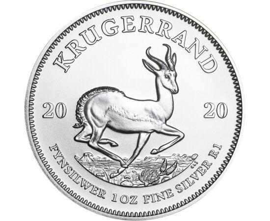 // krugerrand, argint de 999/1000, Republica Africa de Sud, 2020 // - Moneda Krugerrand, cunoscută ca monedă de investiţie din aur, a apărut în 2017 pentru prima dată, sub forma unei monede de investiţie din argint cu greutatea de 1 uncie. Datorită popula