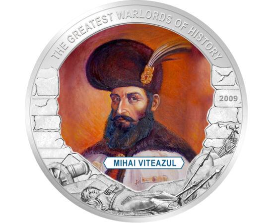 """// 5 dolari, Liberia, 2009 // - Voievodul şi comandantul Ţării Româneşti. A aderat la """"Liga Sfântă"""", care a avut ca scop alungarea turcilor din Europa."""
