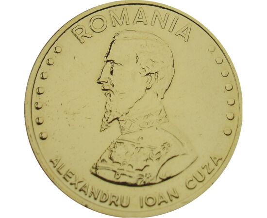 // 50 lei, România, 1991 // - Alexandru Ioan Cuza a fost primul domnitor al Principatelor Unite. Sub domnia lui s-au pus bazele dezvoltării moderne a naţiunii române din punct de vedere economic, social, politic şi cultural. A fost cel care a reuşit să de