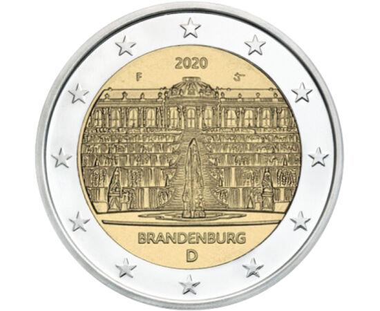 """// 2 euro, Germania, 2020 // - Palatul Sanssouci a fost construit de către regele Frederic al II-lea, al cărui vis era o viaţă simplă şi intimă (sans souci înseamnă în franceză """"fără griji"""