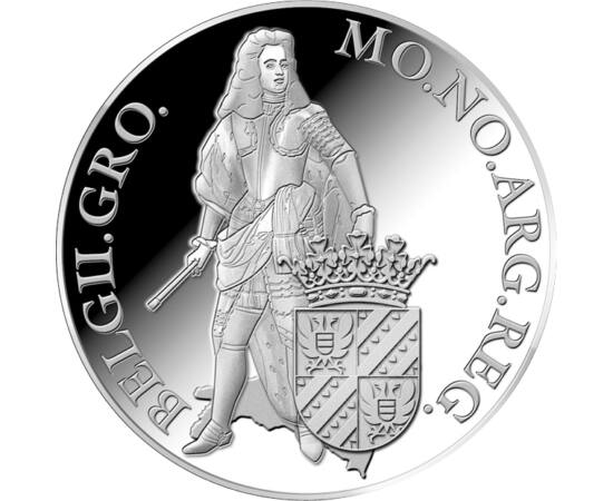 // 1 ducat, argint de 873/1000, Olanda, 2018 // - Au fost introduşi de către olandezi în secolele XVII-XIX, pentru gestionarea plăţilor în comerţul intern. Moneda groningen valora 50 stuyverţi olandez, a fost din argint cu fineţe de 87,3% şi cu greutatea