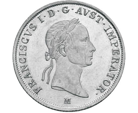 // 20 creiţari, argint de 583/1000, Imperiul Austriac, 1831-1835 // - Regele Francisc I al Ungariei a fost ultimul împărat romano-german, care a abdicat din cauza extinderii fostului său ginere, Napoleon I. Fiind şi primul împărat al Austriei, creiţarul b