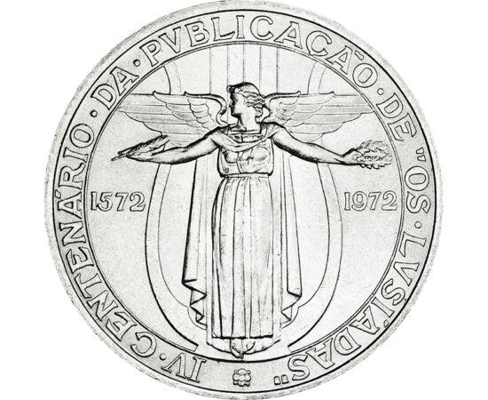 // 50 escudo, argint de 400/1000, Portugalia, 1972 // - Louís Vaz de Camoes este un vestit poet portughez din era renascentistă, faimos pentru epopeea naţională numită Luiziade, inspirată din călătoriile lui Vasco da Gama. Limba lui neiertătoare a fost mo