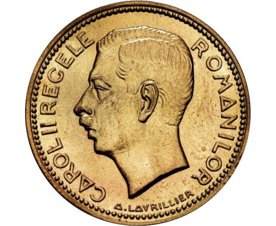 // 20 lei, România, 1930 // - Moneda bătută în 1930, cu acvila şi monograma încoronată a regelui Carol al II-lea, aduce în memorie amintirea unei regalităţi dispărute. Simbolizează suveranitatea şi independenţa poporului român.