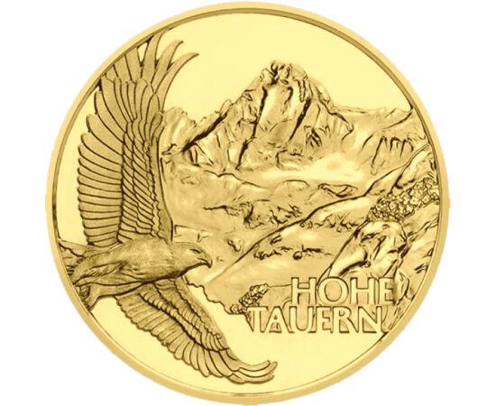 // 50 euro, aur de 986/1000, Austria, 2020 // - Monetăria Austriei ne încântă cu un nou program de monede valoroase, care prezintă cele mai înalte şi cele mai spectaculoase regiuni ale ţării. Pe prima monedă din aur de 50 euro apare Parcul Naţional Hohe T