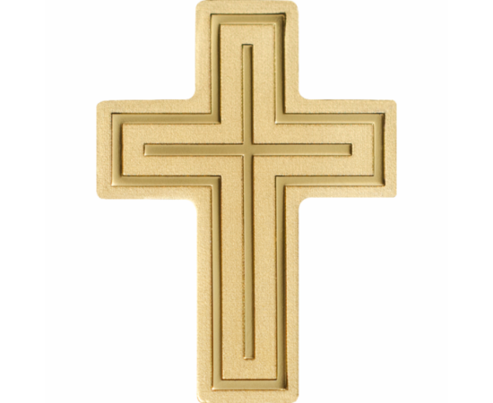 """// 1 dolar, aur de 999,9/1000, Palau, 2019-2020 // - O cruce specială din aur pur de """"patru de nouă"""", care este totodată o monedă cu valoare nominală. Moneda în formă de cruce a fost emisă în număr limitat, doar 15.000 de bucăţi fiind în circulaţie pe pla"""