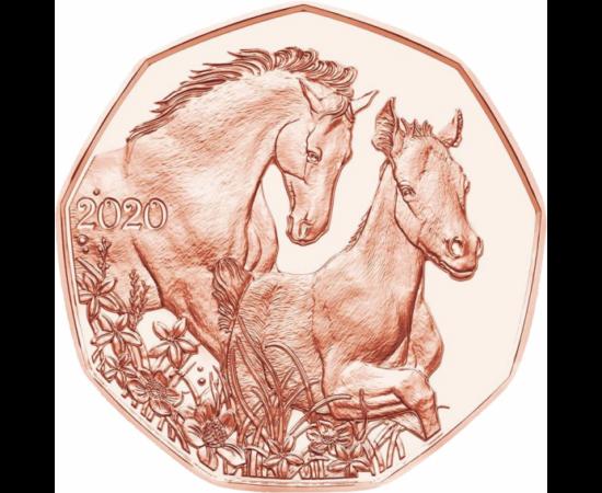 // 5 euro, Austria, 2020 // - Monetăria din Austria emite anual o monedă comemorativă pentru sărbătorile pascale. În 2016, aceasta a fost decorată  cu iepurele lui Dürer, în 2017 – un miel, în 2018 – un iepuraş adorabil. În acest an simbolul primăverii es