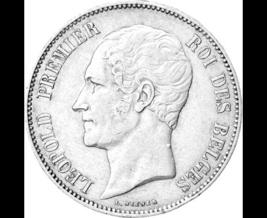 // 5 franci, argint de 900/1000, Belgia, 1849-1865 // - În 1831, Leopold I a devenit primul rege al Belgiei, i s-a oferit şi tronul Greciei în 1829, însă datorită primei sale soţii s-ar fi putut urca şi pe tronul Marii Britanii. Cel mai mare merit al lui