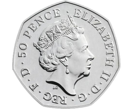 50 pence, Oameni, inscripţii, 2018 Marea Britanie