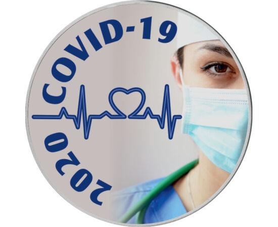// 25 cenţi, SUA, 2020 // - În aprilie 2020, SUA a devenit următorul focar al virusului COVID-19, care a apărut în 2019 decembrie, în China, provincia Wuhan, iar în primăvara anului 2020 a silit întreaga lume la autoizolare. Inima şi medicul cu mască de p
