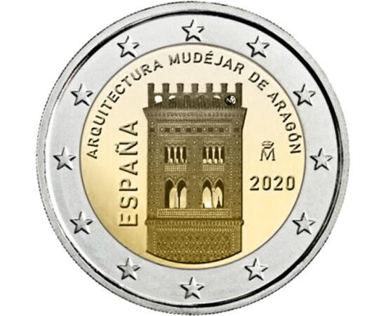 // 2 euro, Spania, 2020 // - Seria de monede din Spania, care ne prezintă situri din patrimoniul mondial UNESCO, aduce un omagiu unui stil arhitectural unic, numit mudejar. Acest stil unic s-a născut din coabitarea culturilor evreilor, musulmanilor şi cre