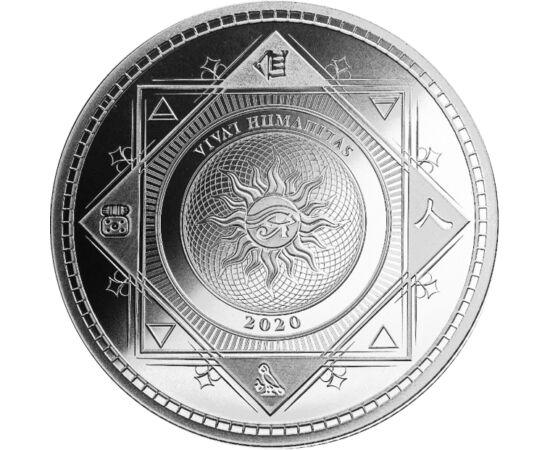 // 5 dolari, argint de 999/1000, Insulele Tokelau, 2020 // - Scrisul – consemnarea exactă şi clară a gândurilor, care poate fi citită – este cea mai importantă realizare a omenirii. Aversul şi reversul monedei înfăţişează diferite semne grafice străvechi