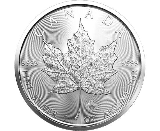 Frunză de arţar, 5 dolari, argint, Canada