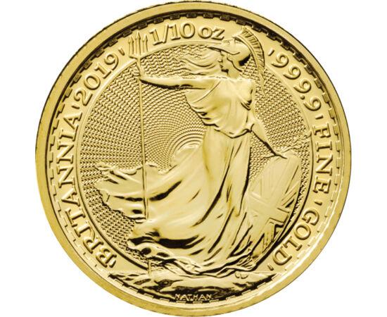 // 10 lire, aur de 999,9/1000, Marea Britanie, 2017 // - Începând cu anul 2012, moneda de investiţie din aur pur, numită Britannia, este emisă în fiecare an. Din cauza crizei de pe piaţa monedelor de investiţii, cauzată de coronavirus, avem un stoc limita