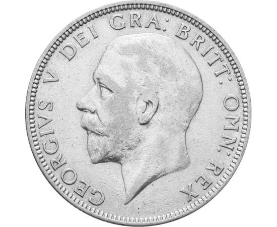 // 1 florin, argint de 500/1000, Marea Britanie, 1927-1936 // - Ţările Marii Britanii de pe insule sunt Anglia, Scoţia, Ţara Galilor şi Irlanda. Pe moneda imperială, stema şi sceptrele celor patru ţări formează o cruce. Moneda seamănă cu un taler de acum