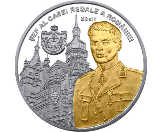 Regele Mihai I pl. cu aur piese de colecţie