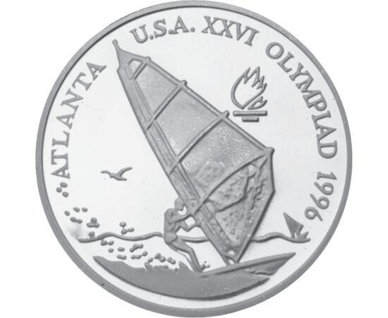 // 100 lei, argint de 925/1000, România, 1996 // - Anul 1996 a fost un an remarcabil pentru România la JO, care s-au desfăşurat în SUA, Atlanta. Sportivii români au obţinut în total 20 de medalii, clasificându-se pe locul 14 în clasamentul de medalii. Mon