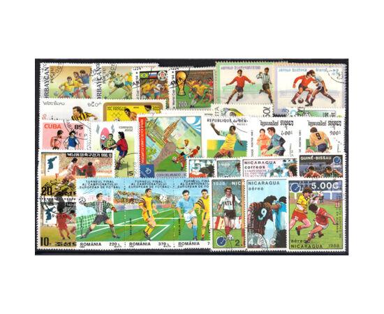 Fotbal -colecţie timbre,50 timbre în set piese de colecţie