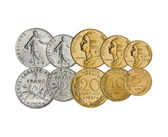 5,10,50 cen.,1/2-10 fr.,1960-2001 Franţa
