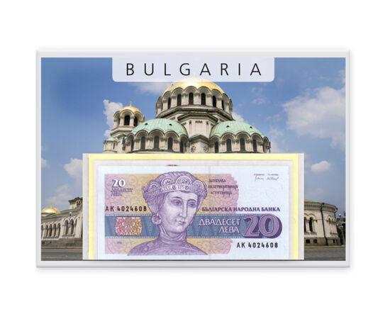 // 20, 50, 100, 200, 500, 1000 leva, Bulgaria, 1991-1994 // - Moneda naţională a Bulgariei este leva, care în limba bulgară veche înseamnă leu. Pe bancnotele emise înaintea reformei bancare din anul 1999 apar cele mai importante personaje ale ţării.