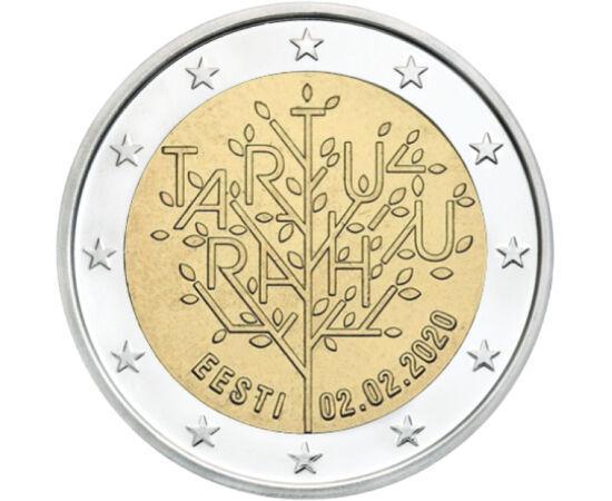// 2 euro, Estonia, 2020 // - Acum 100 de ani, războiul pentru independenţa Estoniei a luat sfârşit cu tratatul de pace de la Tartu, Estonia devenind ţară independentă. Această dată istorică semnificativă din istoria ţării este comemorată prin moneda spec