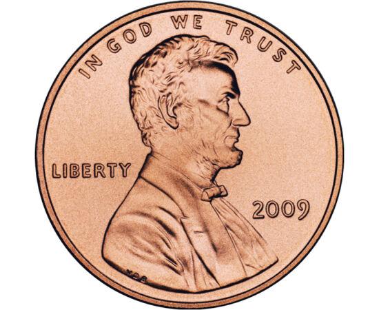 // 1 cent, SUA, 2009 // - Abraham Lincoln a fost unul dintre cei mai mari preşedinţi ai SUA. A condus cu succes ţara pe parcursul Războiul Civil American, şi a abolit sclavia. Deşi fabricarea monedei de 1 cent costă mai mult, decât valoarea ei nominală, p