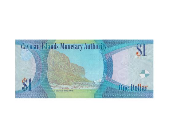 // 1 dolar, Insulele Cayman, 2018 // - Insulele Cayman cuprinde trei insule coraligene, care atrage anual nenumăraţi turişti cu particularităţile sale naturale uimitoare. Insulele sunt teritoriul Regatului Unit, aşadar bancnota înfăţişează portretul Regin
