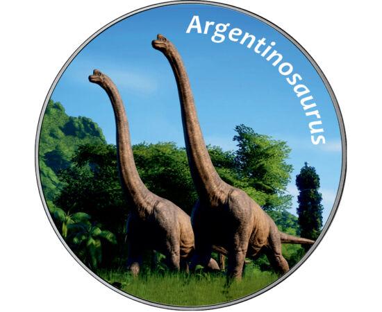 // 25 cenţi, SUA, 2012-2020 // - În epoca dinozaurilor au trăit ființe de dimensiuni uimitoare, cel mai mare dinozaur fiind Argentinosaurul, deţinătorul recordului, care este estimat la o lungime de 35 de metri şi  o greutate de până la 110 de tone. Fosil