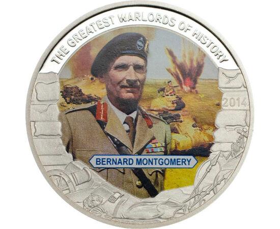 // 1 dolar, Palau, 2014 // - Mareşalul englez Bernard Montgomery a fost comandant în Franţa, iar mai târziu în Anglia. În invazia Normandiei, a comandat forţele terestre ale Aliaţilor. După război, a fost numit şef de Stat Major şi comandantul forţelor al