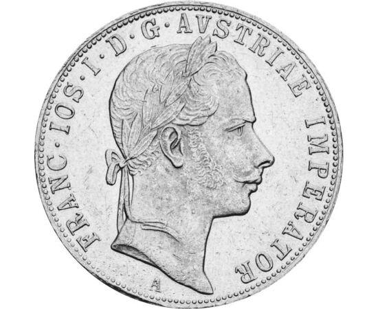 // 1 florin, argint de 900/1000, Monarhia Austro-Ungară, 1857-1872  // - În anul 1892, Francisc Iosif I a aprobat renunţarea la vechiul sistem monetar bazat pe creiţari, florini şi taleri, şi trecerea la un sistem monetar modern, compatibil cu cel al Uniu