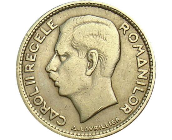 // 10 lei, România, 1930 // - Moneda emisă în 1930, anul încoronării regelui Carol al II-lea, evocă era unei stabilităţi economice şi a unei culturi înfloritoare, în ciuda anilor crizei economice mondiale. Pe această monedă apare şi monograma regelui Caro