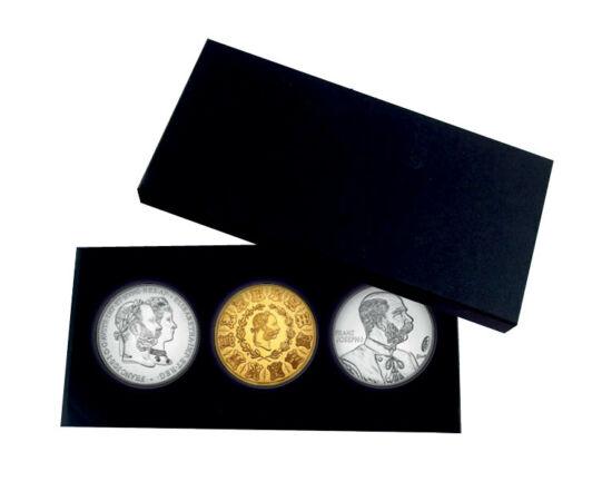 // medalie, Monarhia Austro-Ungară // - Francisc Iosif I s-a născut pe 18 august 1830. Domnia sa de 68 de ani a marcat un capitol distinct în istoria militară, istoria artei, dar şi istoria monetară. Emisiunile comemorative şi monetare a lui Francisc I