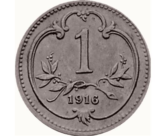 // 1 heller, Monarhia Austro-Ungară, 1892-1916 // - În 1892, Francisc Iosif I a introdus reforma monetară pe întregul teritoriu al imperiului, prin această reformă unificând sistemul monetar şi introducând monede noi. Monedele emise au fost elaborate arti