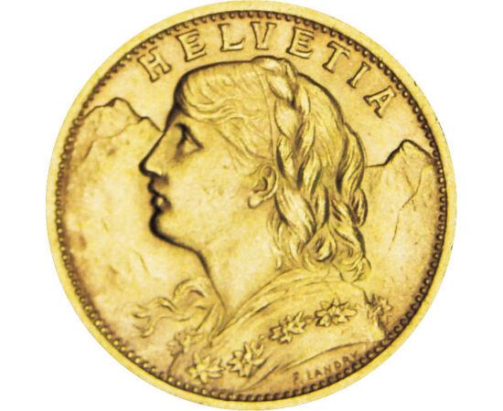 // 20 franci, aur de 900/1000, Elveţia, 1883-1949 // - Valoarea aurului este constant indiferent de războaie, inflaţii, sau crize economice. Este singurul lucru a cărui valoare nu numai că s-a păstrat, dar a şi crescut considerabil.  Elveţia, care este cu