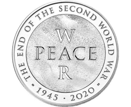 // 5 lire, Marea Britanie, 2020 // - Cea mai importantă comemorare a anului a fost marcată şi de monetăria regală britanică: cel de-Al Doilea Război Mondial s-a terminat acum 75 de ani. Moneda este decorată cu corespondentul în engleză al cuvintelor pace,