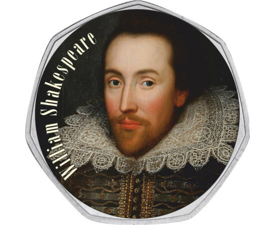 50 pence, William Shakespeare Marea Britanie