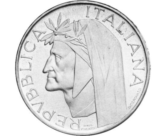 // 500 lire, argint de 835/1000, Italia, 1965 // - Moneda din argint a fost dedicată aniversării a 700 de ani de la naşterea lui Dante Alighieri, una dintre cele mai mari figuri ale literaturii italiene şi universale. Aversul înfăţişează chipul poetului,