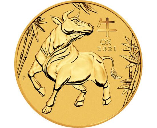 // 15 dolari, aur de 999,9/1000, Australia, 2021 // - Conform zodiacului chinezesc, în curând va veni timpul să zicem adio Anului Şobolanului, 2021 fiind Anul Bivolului. De această ocazie profită şi monetăria Australiei, prin lansarea acestei monede din a