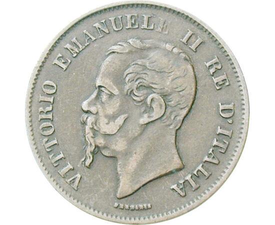 // 5 centesimi, Italia, 1861-1867 // - Garibaldi a început războiul pentru independenţă după revoluţiile europene, iar acesta a adus unificarea Italiei. Primul rege italian a fost Victor Emanuel al II-lea, astfel monedele sale sunt de fapt primele monede