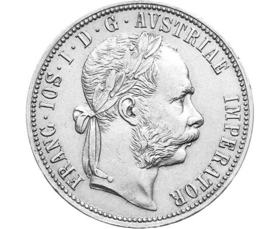 // 1 florin, argint de 900/1000, Monarhia Austro-Ungară, 1872-1892 // - Împăratul Austriei a efectuat încă din 1857 o mică reformă financiară, raţionalizând moneda de schimb a crăiţarului. Cea mai frumoasă monedă adusă de reformă a fost acest florin, care