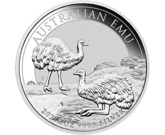 // 1 dolar, argint de 999,9/1000, Australia, 2020 // - Monetăria Australiei emite în fiecare an monede de investiţie care atrag atenţia asupra faunei unice a ţării. Anul acesta, motivul principal al monedei de 1 uncie – foarte căutată de colecţionari – es