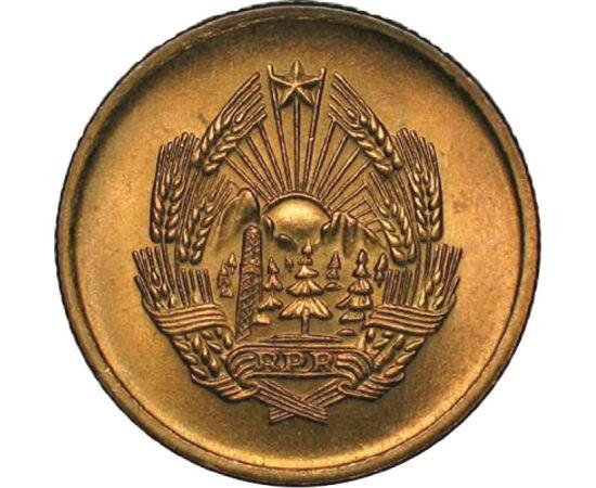 // 5 bani, România, 1953-1957 // - Republica Populară Română a fost numele oficial purtat de România de la abdicarea forţată a regelui Mihai, până la proclamarea Republicii Socialiste România. Din anul 1953 stema României a capătat în plus steaua roşie, a